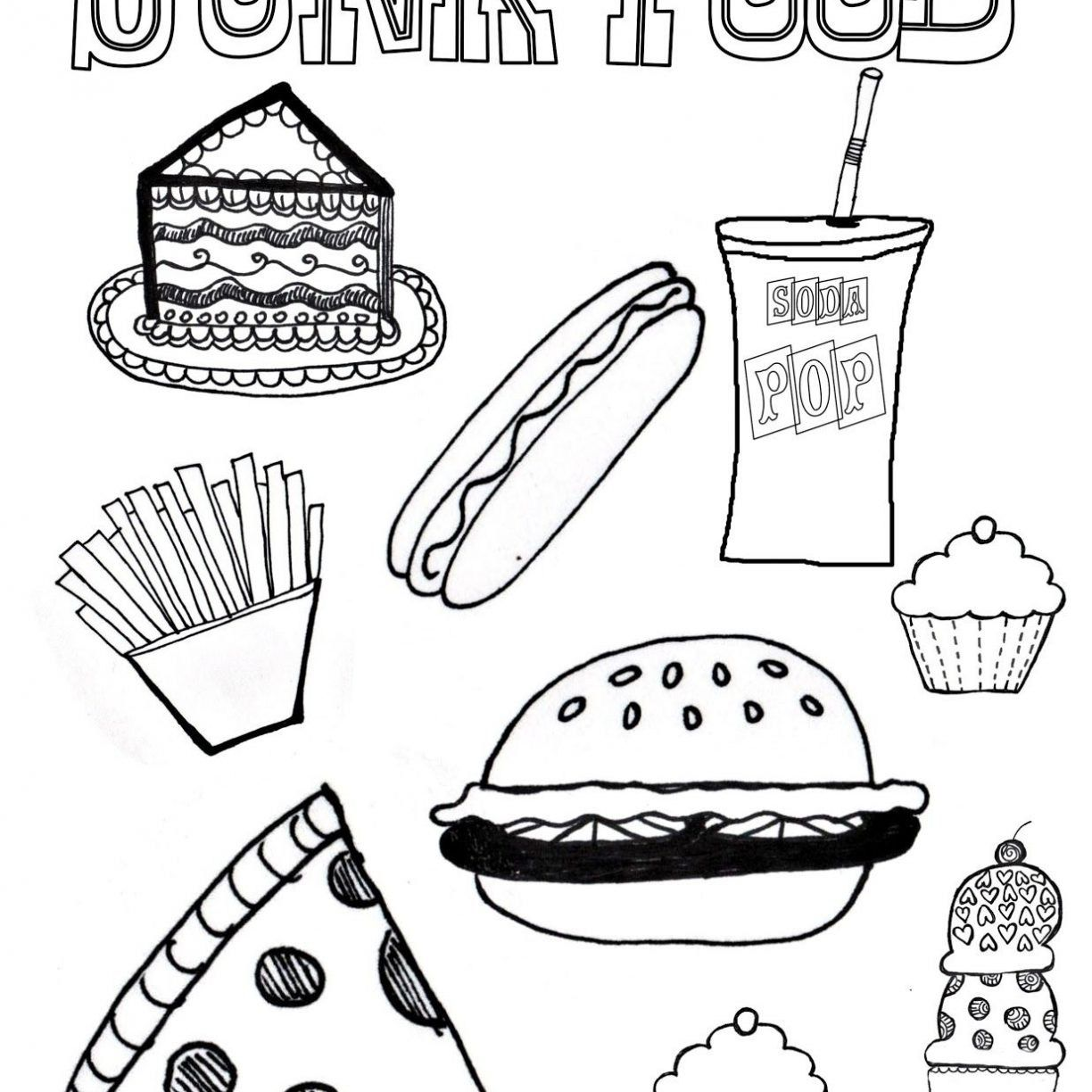 Healthy Food Coloring Pages Shrewd Healthy Food Coloring Pages For