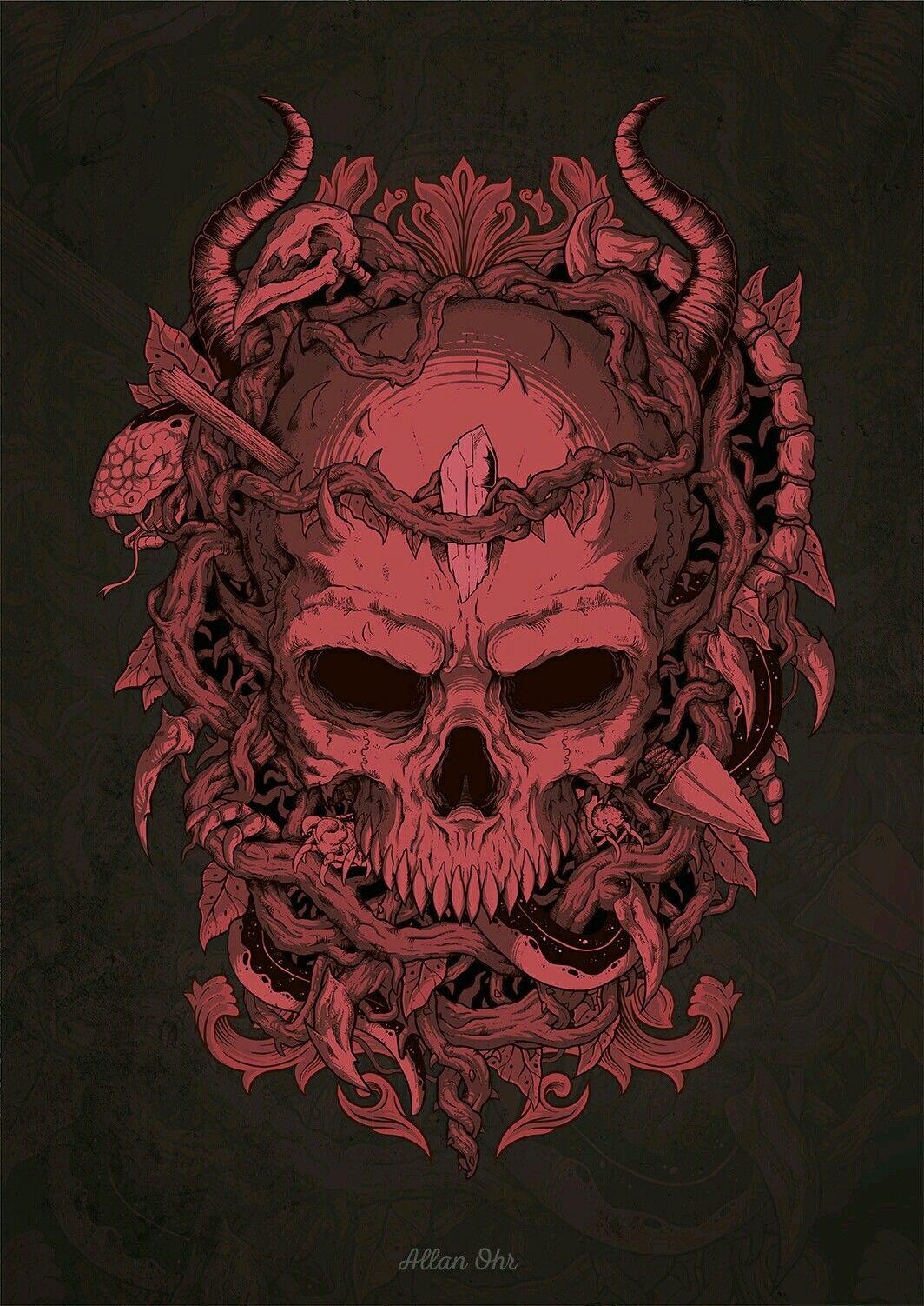 skull by Allan Ohr