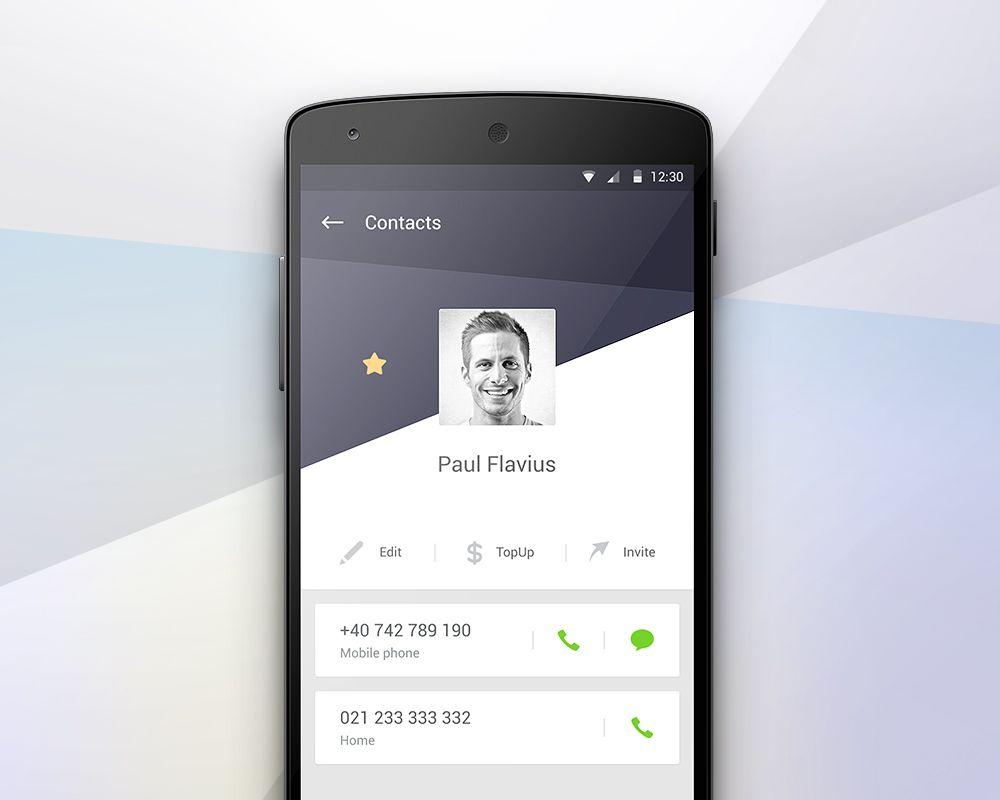 Day025 Contact Profile Jpg By Paul Flavius Nechita Android Design App Design Mobile App Design