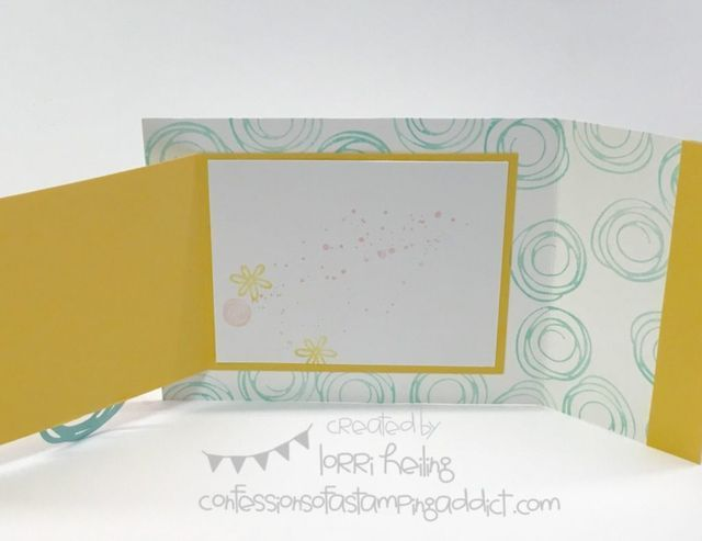 "Here's a fun fold card – and dimensions: Whisper White cardstock (7 ¾"" x 4 ¼"""