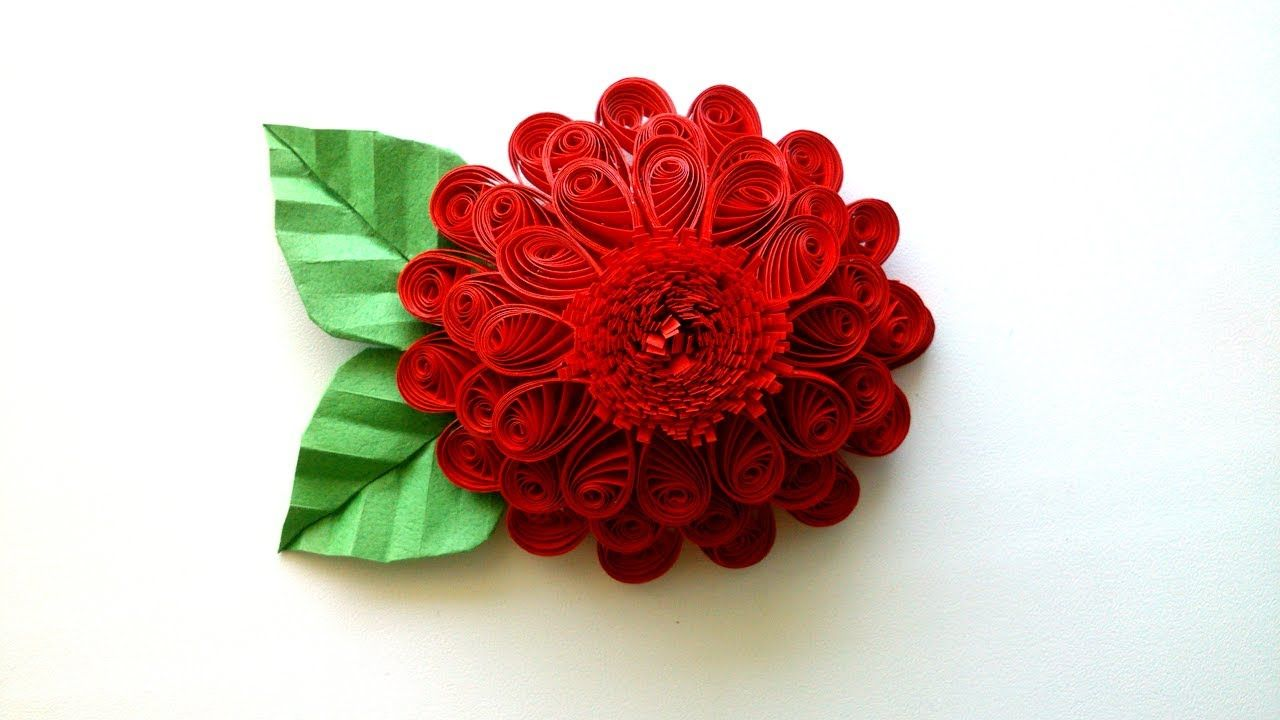 How To Make A 3d Quilling Flower Creative Paper Quilling