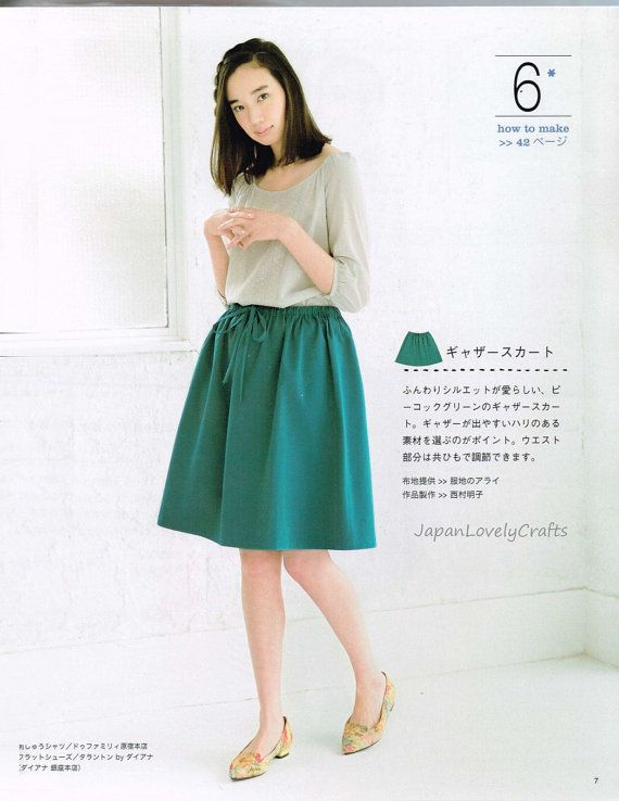 Easy Skirt & Pants Patterns - Japanese Sewing Pattern Book for Women ...