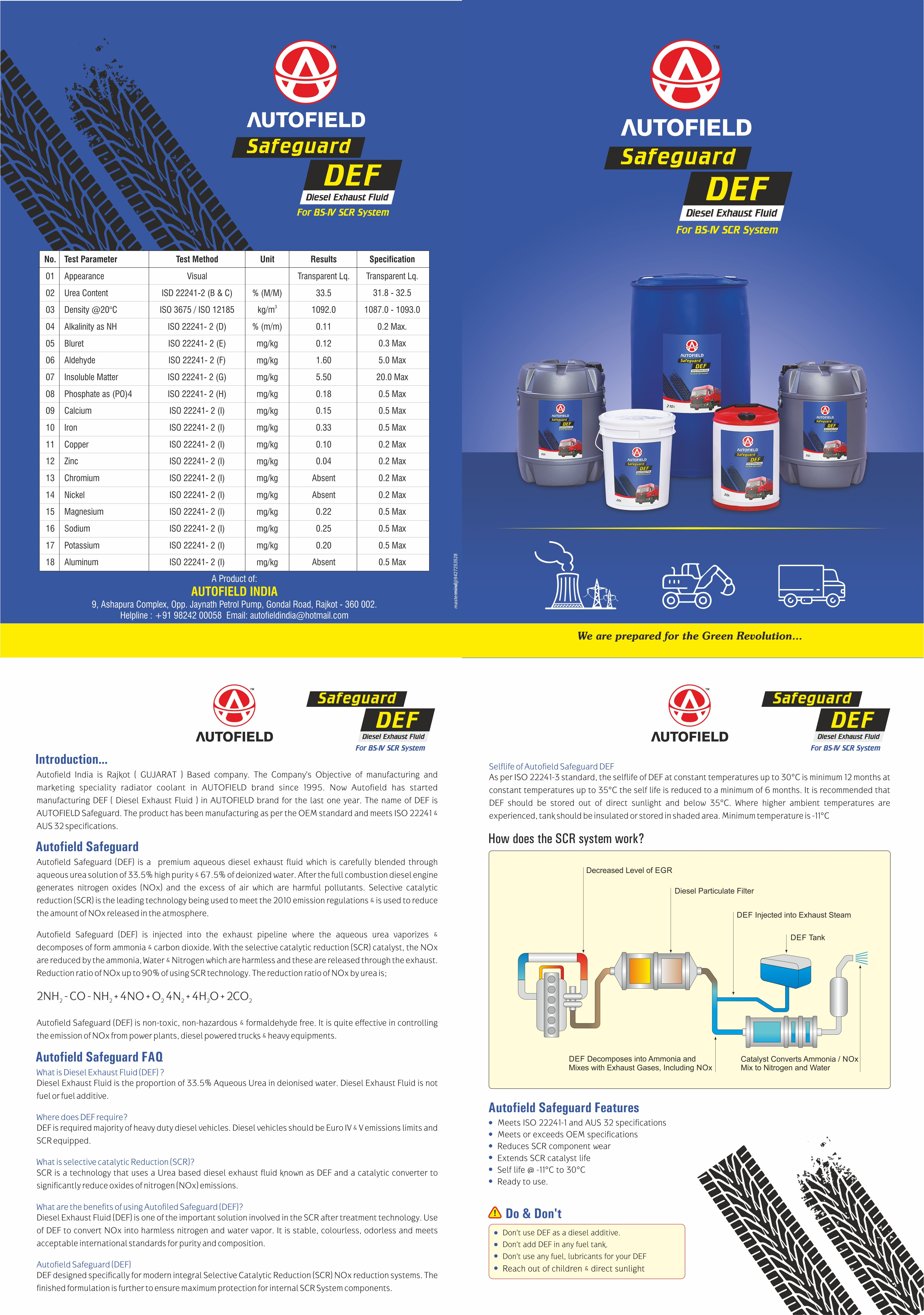 Autofield DEF Brochure Design