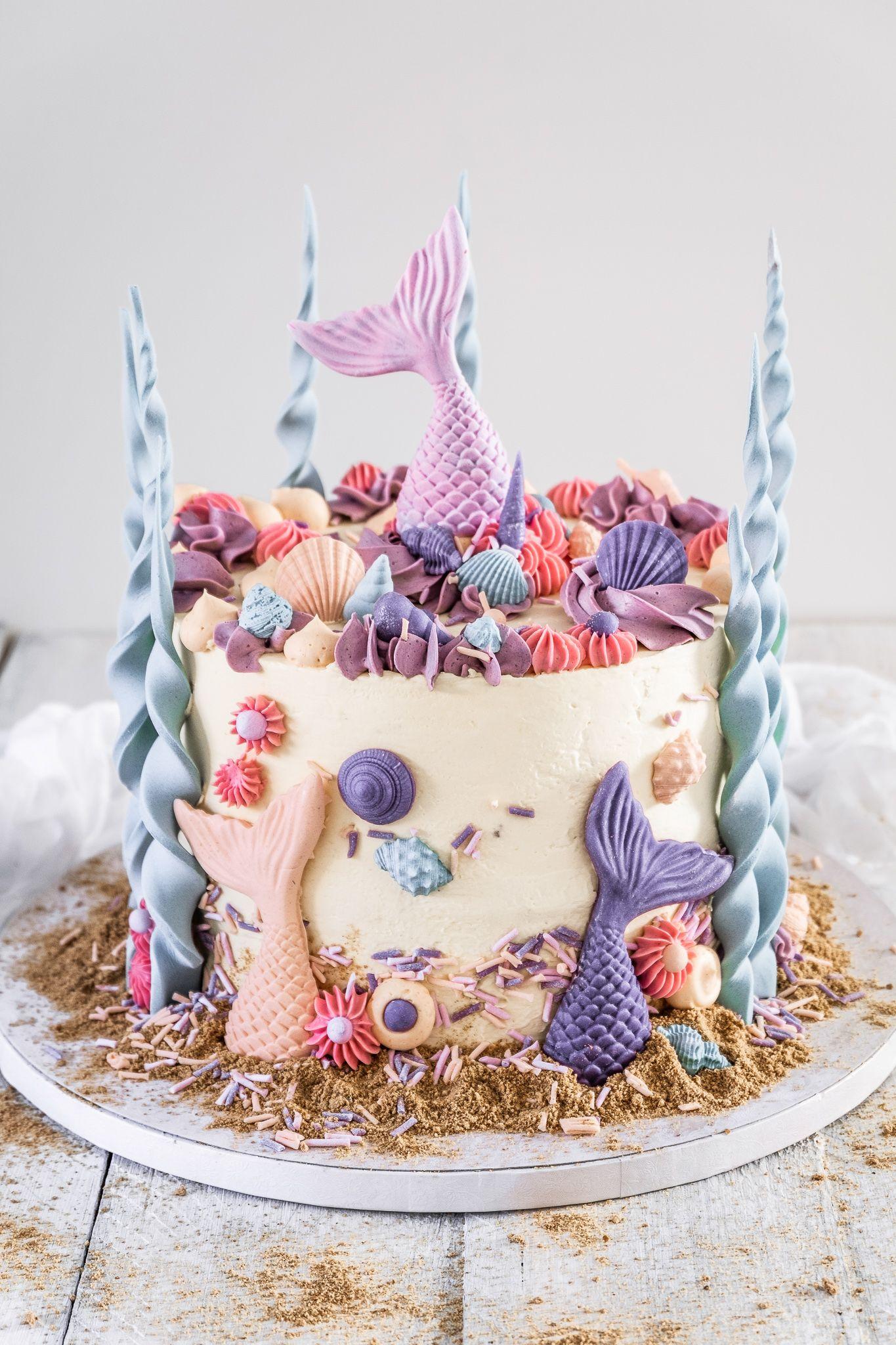 Motivtorte Meerjungfrauen - Ahalni Sweet Home #childrenpartyfoods
