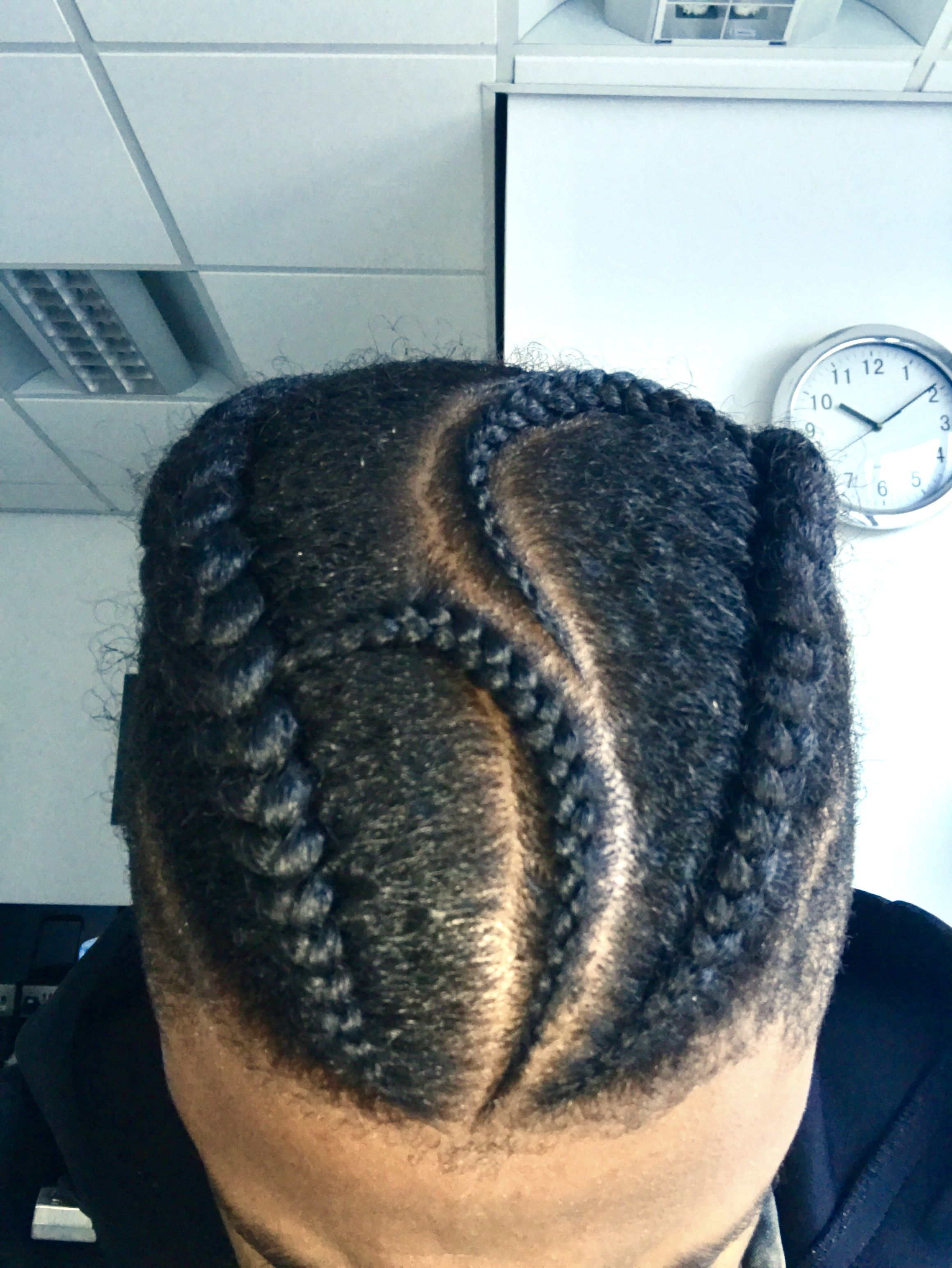 Natural Man Hair Style For Black Men Braids Cornrows Done By London