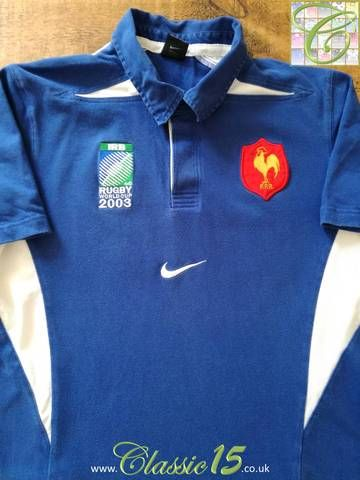 official photos a0eed d9e57 2003 France Home Rugby World Cup Shirt (L) | iKits | World ...