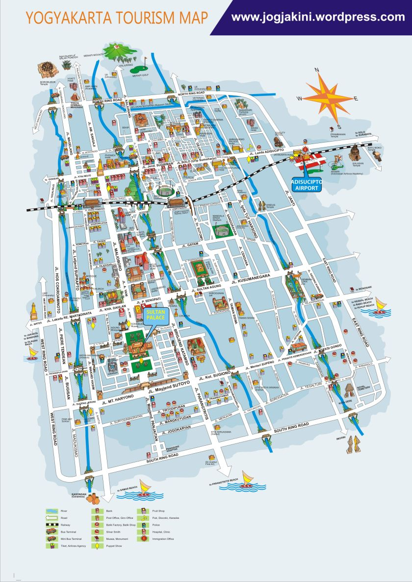 Peta Wisata Diy Yogyakarta Jogja Format Cdr Yogyakarta