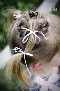 My Little Irish Colleen (ok, her name is Duggan) and her shamrock hair do…