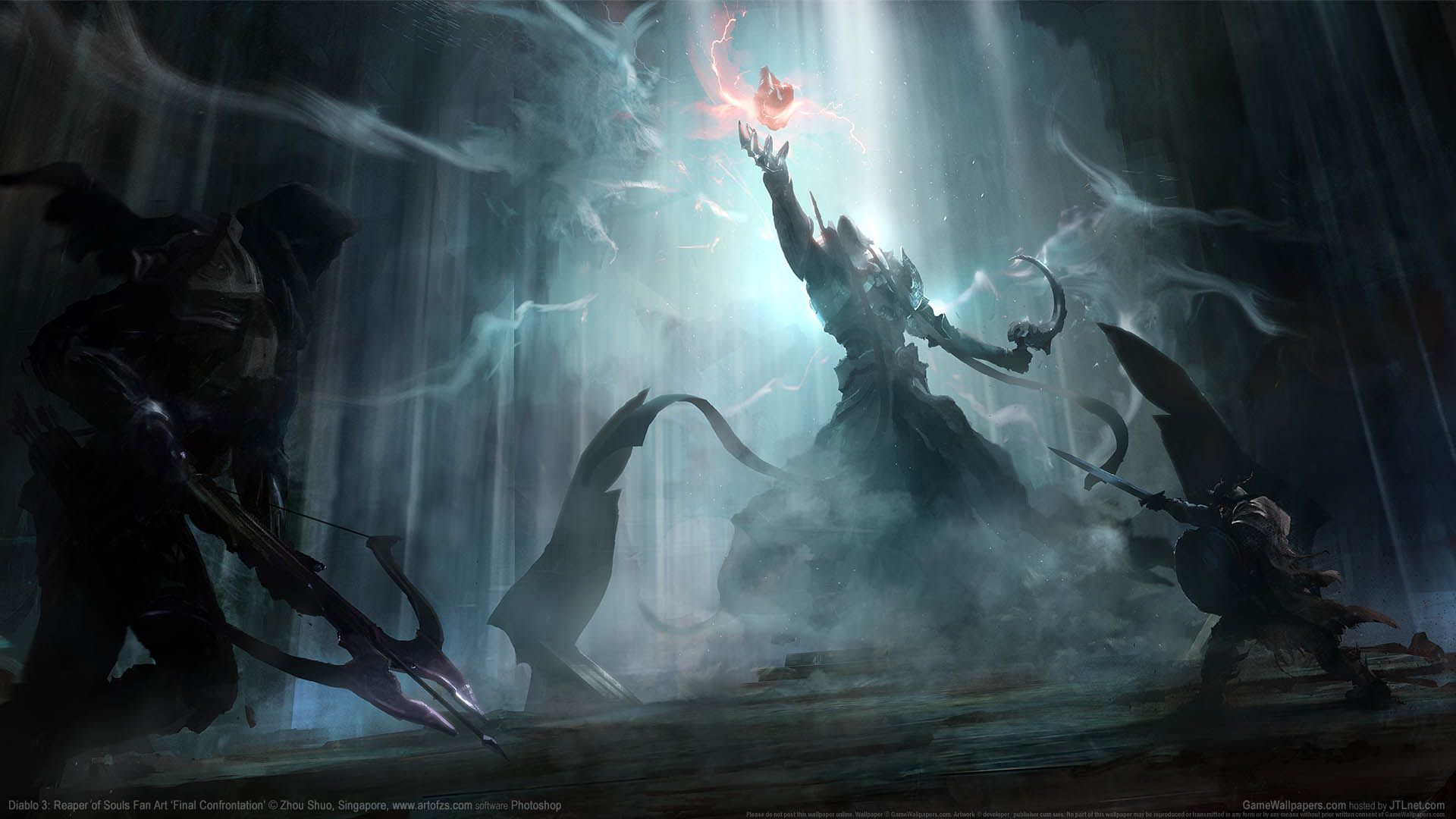 Diablo 3 Reaper Of Souls Fan Art Wallpaper 06 1920x1080 Diablo Diablo 3 Artwork Painting