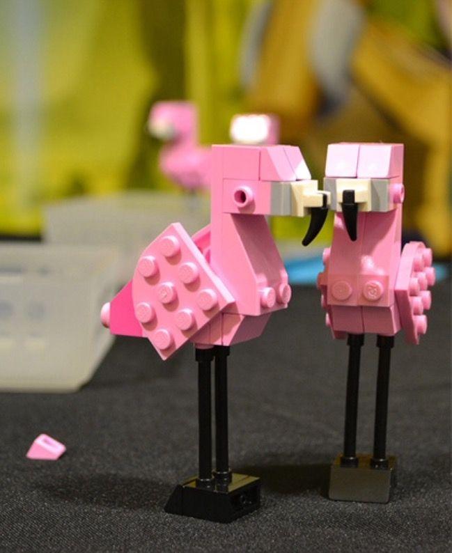 Photo of Lego Pink Flamingos