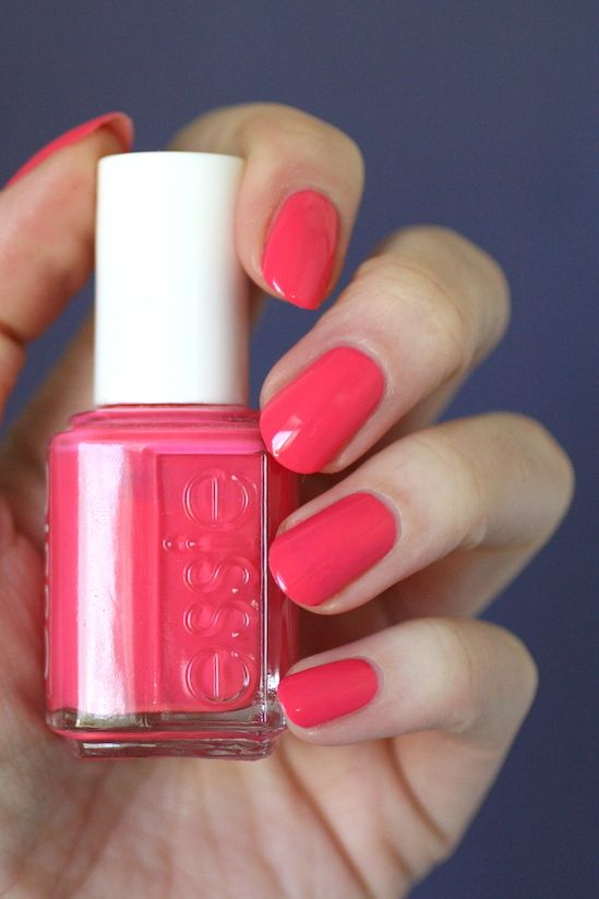 Essie Pink Red Coral Comparison Cute As A Button Sunday Funday