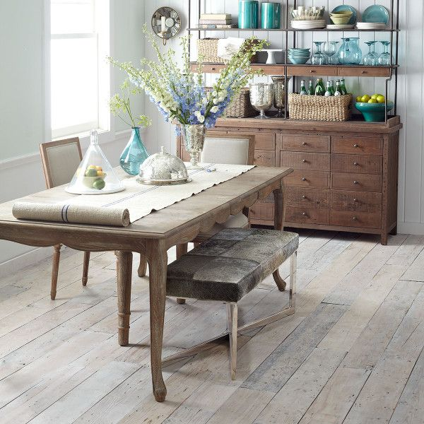 Country Dining Table With Bench: French Country Dining Table