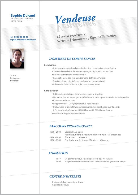 Exemple De Cv Commercial Vendeur Gratuit A Telecharger Exemple Cv Cv Commerciale Cv Vendeur