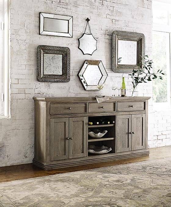 Aldridge Sideboard Rustic Wood Dining Room Buffet Homedecorators