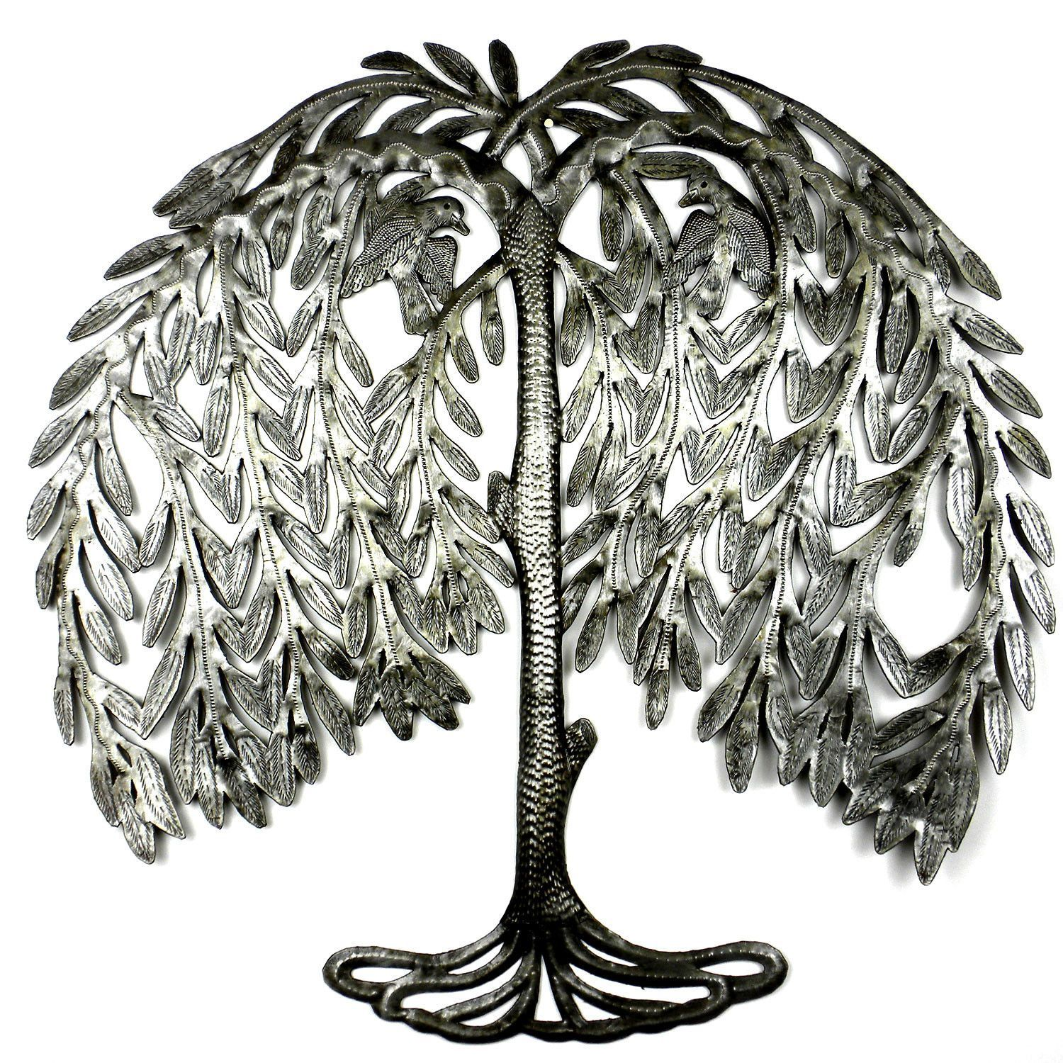 Weeping willow metal art croix des bouquets from latitudes fair