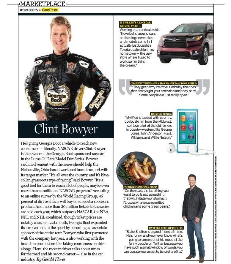 Clint Bowyer Interview  Georgia Boot (GeorgiaBoot) on Twitter