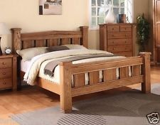 michidean 5 king size solid natural oak bed frame