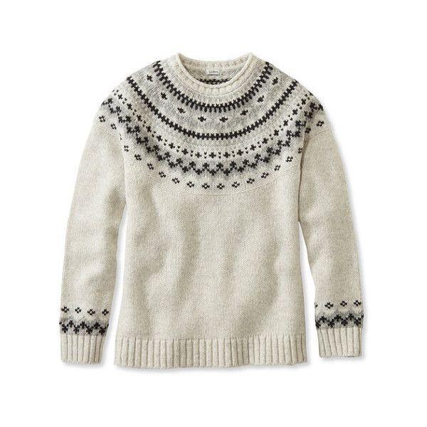 L.L.Bean Classic Ragg Wool Sweater, Fair Isle Crewneck ($70 ...