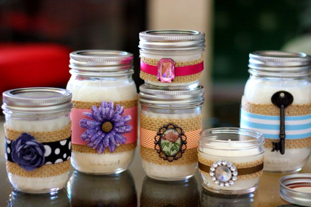 Decorative Jars Decorative Diy Candles In Mason Jars  Diy Candles Jar And Jelly Jars