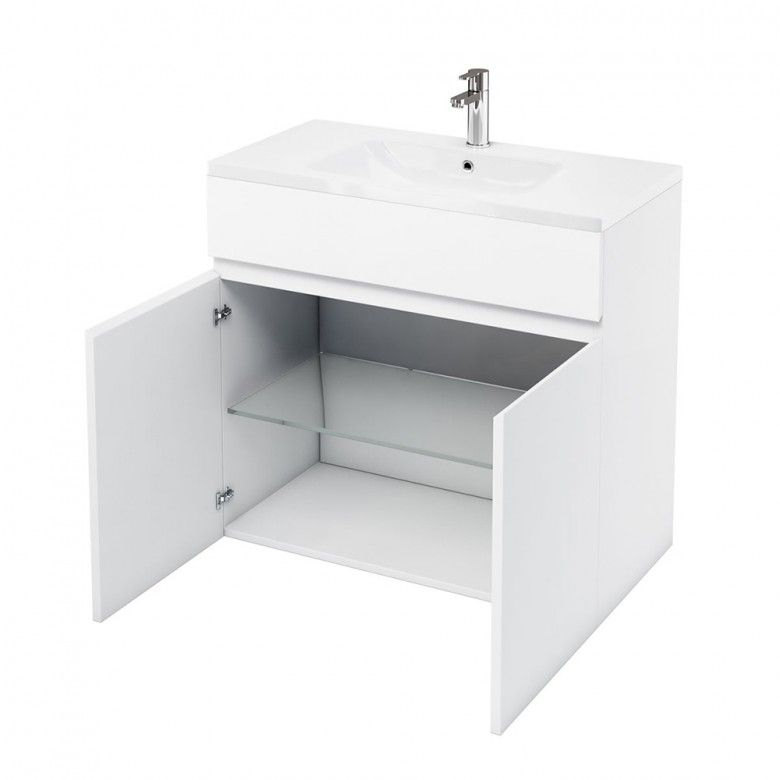 Britton Bathrooms D45 900mm Floor Standing Vanity Unit With Basin