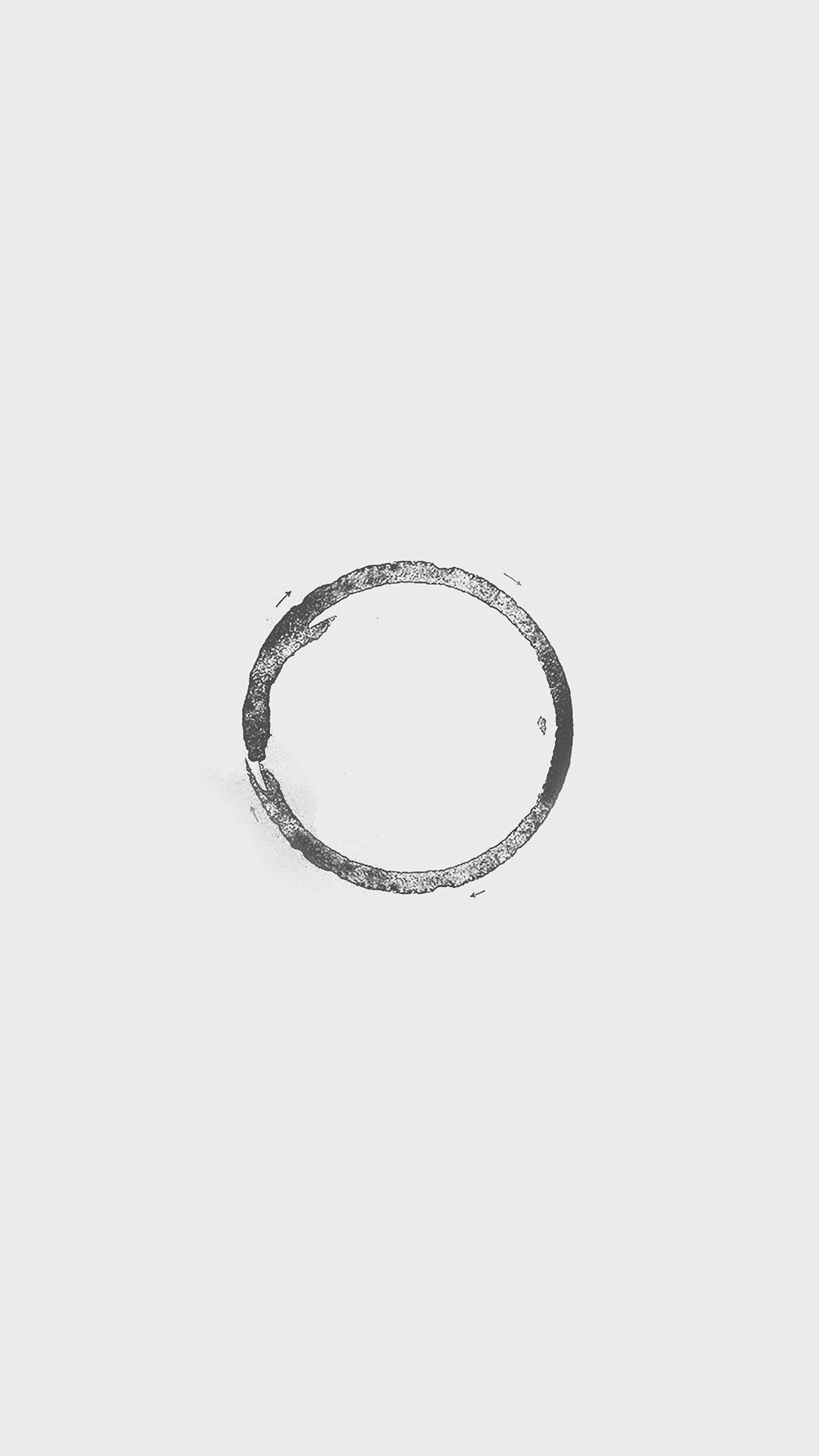 Circle Art Minimalist Iphone Hipster Wallpaper Iphone 7 Plus