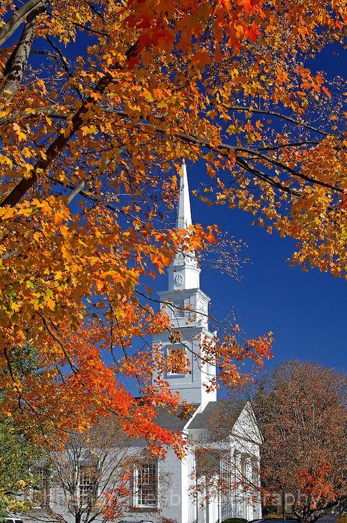 Indian Summer, New Hampshire | Paysage automne, Église cathédrale,  Cathédrale