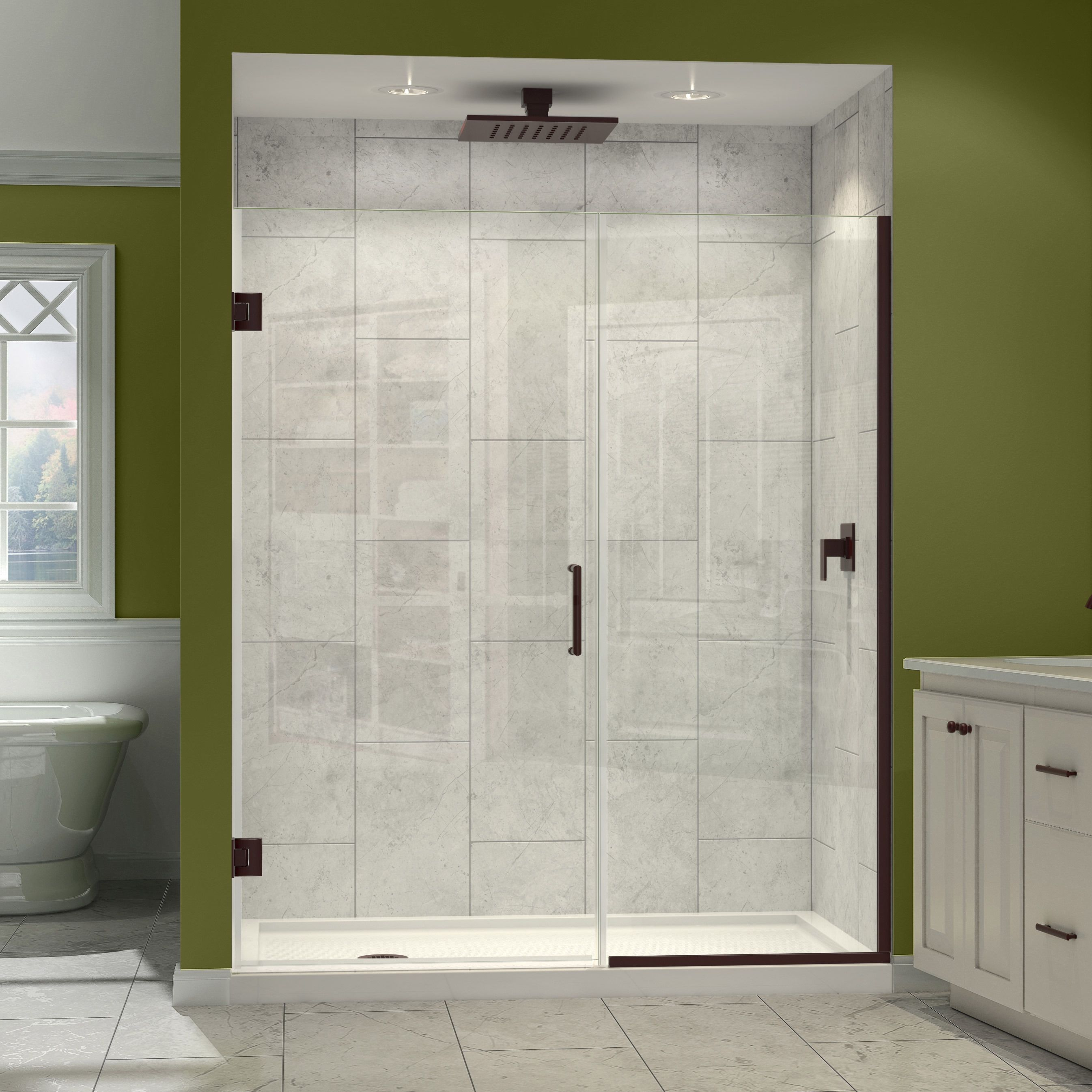DreamLine Unidoor Plus Min 45 in. to Max 45.5 in. W x 72 in. H ...