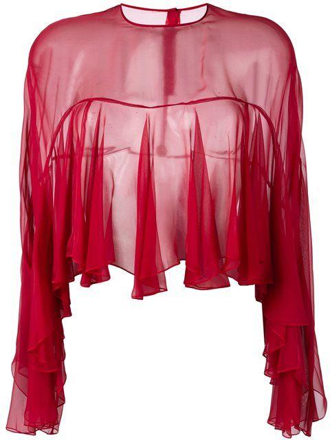 PHILOSOPHY DI LORENZO SERAFINI ruffled blouse. #philosophydilorenzoserafini #cloth #blouse