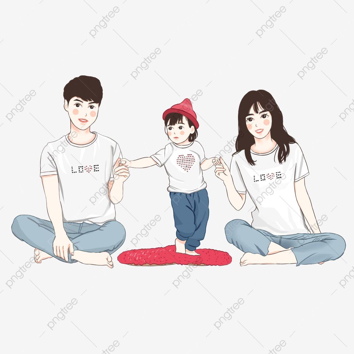 การ ต นวาดด วยม อ ลมเกาหล ครอบคร วสามคน ภาพครอบคร ว ภาพต ดปะครอบคร ว ครอบคร ว น าร กภาพ Png และ Psd สำหร บดาวน โหลดฟร ศ ลปะลายม อ ภาพครอบคร ว การออกแบบต วละคร
