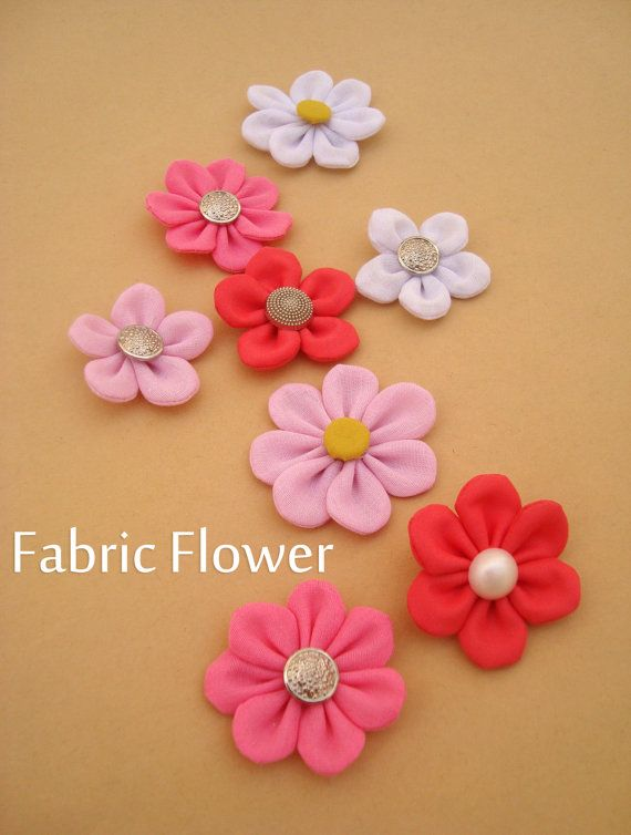 Ith Felt  Fabric Flower Petals Template Embellishment Diy Pdf