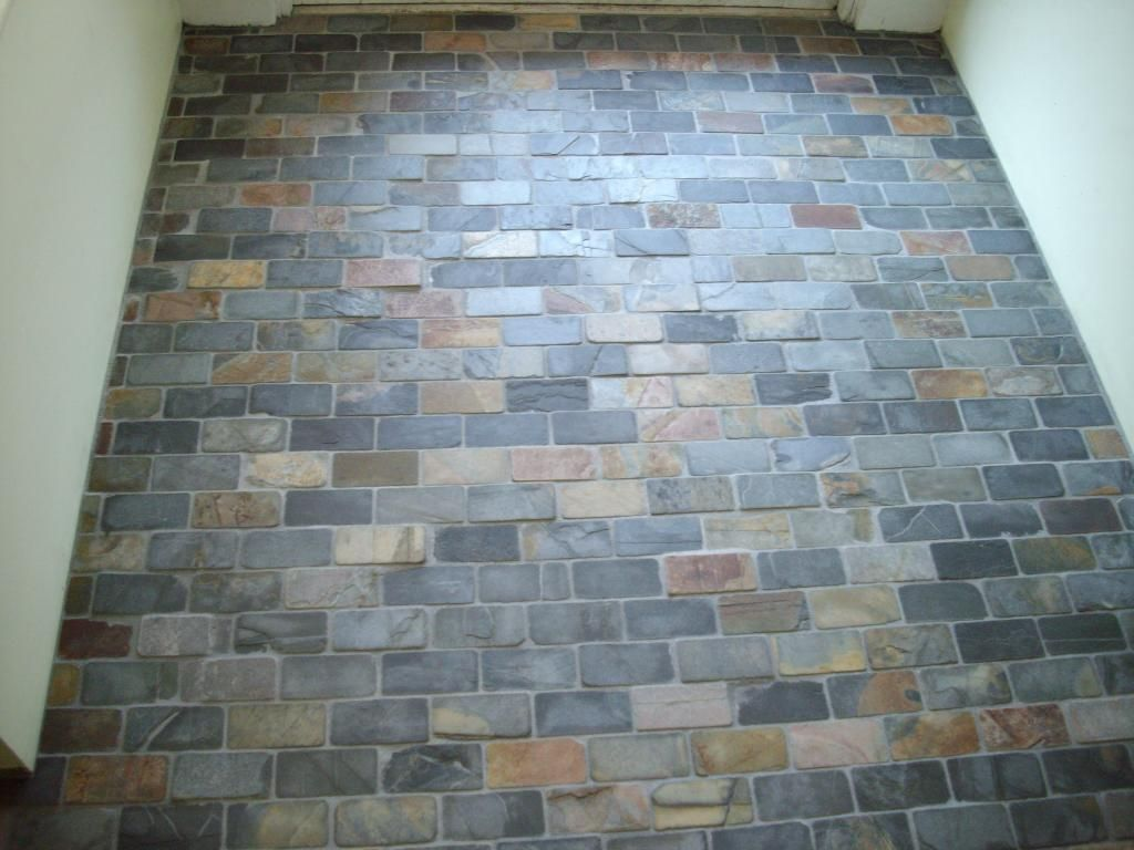 Foyer Tile Small Bricks Of Slate With Images Entryway Tile