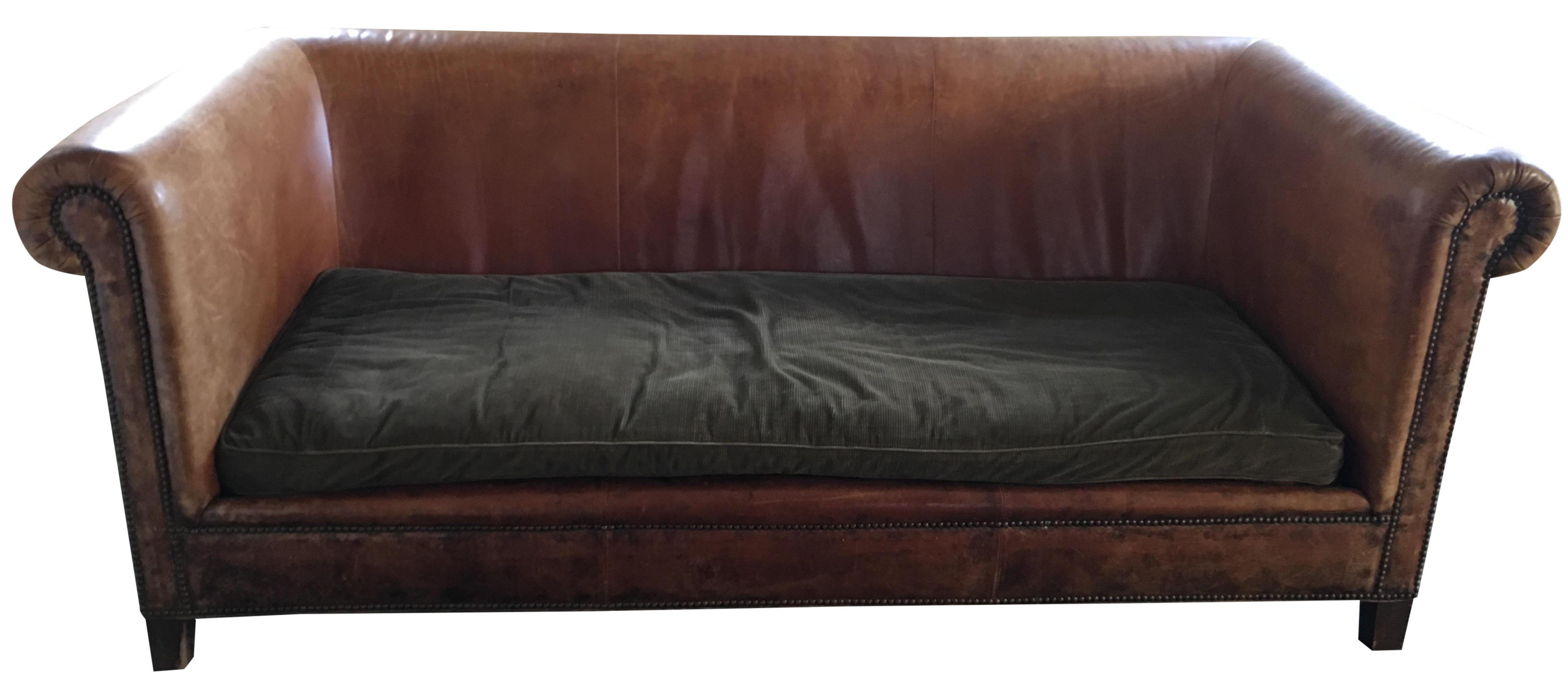 Perfect Leather Ralph Lauren Couch On Chairish.com