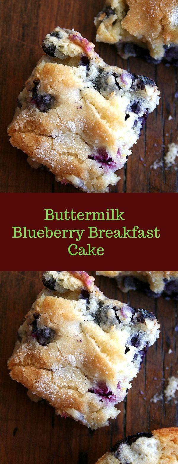 Buttermilk Blueberry Breakfast Cake #BLUEBERRY #BUTTERMILK #BREAKFAST #buttermilkblueberrybreakfastcake