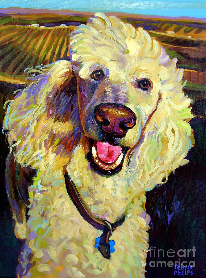 Princely Poodle Painting - Princely Poodle Fine Art Print | Pretty ...