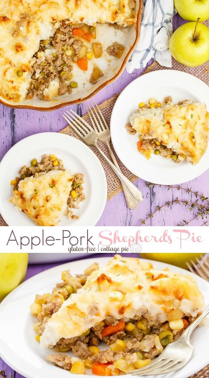 Apple Pork Shepherd S Pie Recipe Pork Recipes For Dinner Food Recipes Easy Meals