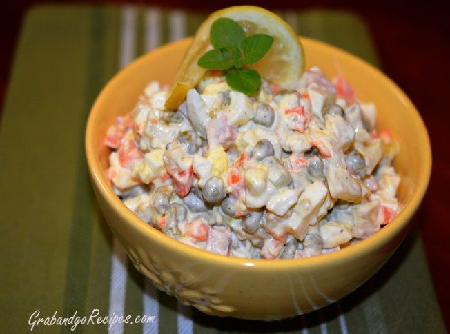 Best 20+ Olivier Salad ideas on Pinterest | Russian salad recipe, Corn ...