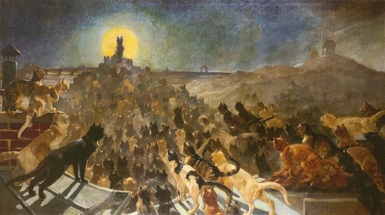 Apotheosis of Cats, 1890, Theophile-Alexandre Steinlen | Chats Dans ...
