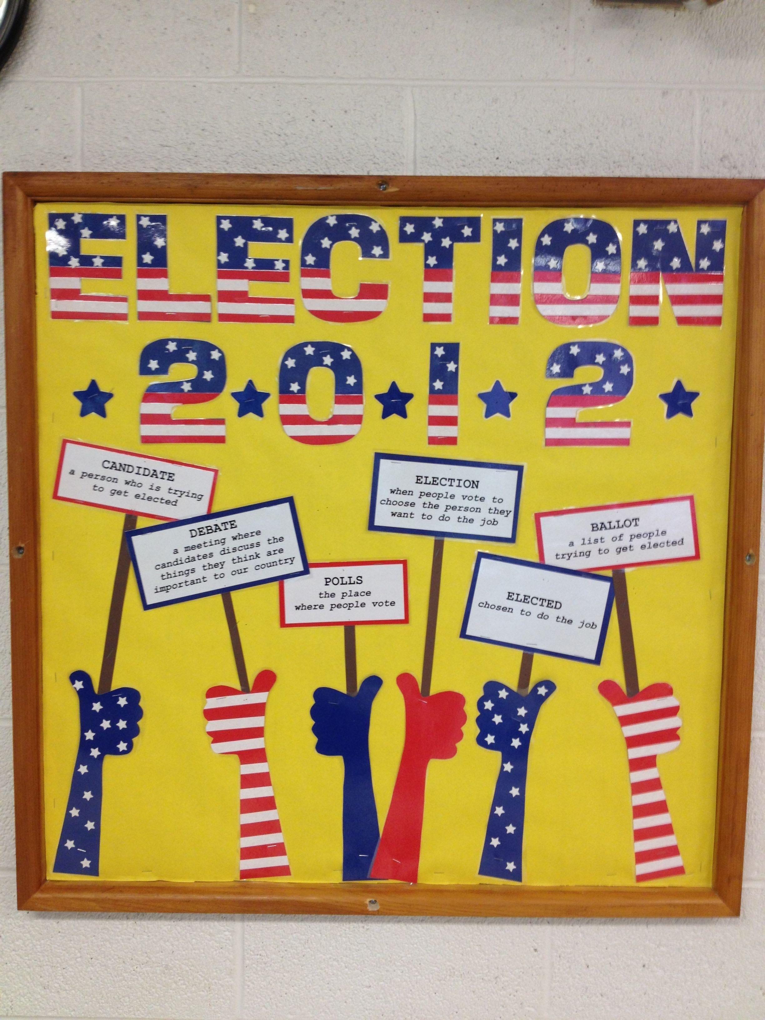 Election Bulletin Boards Classroom