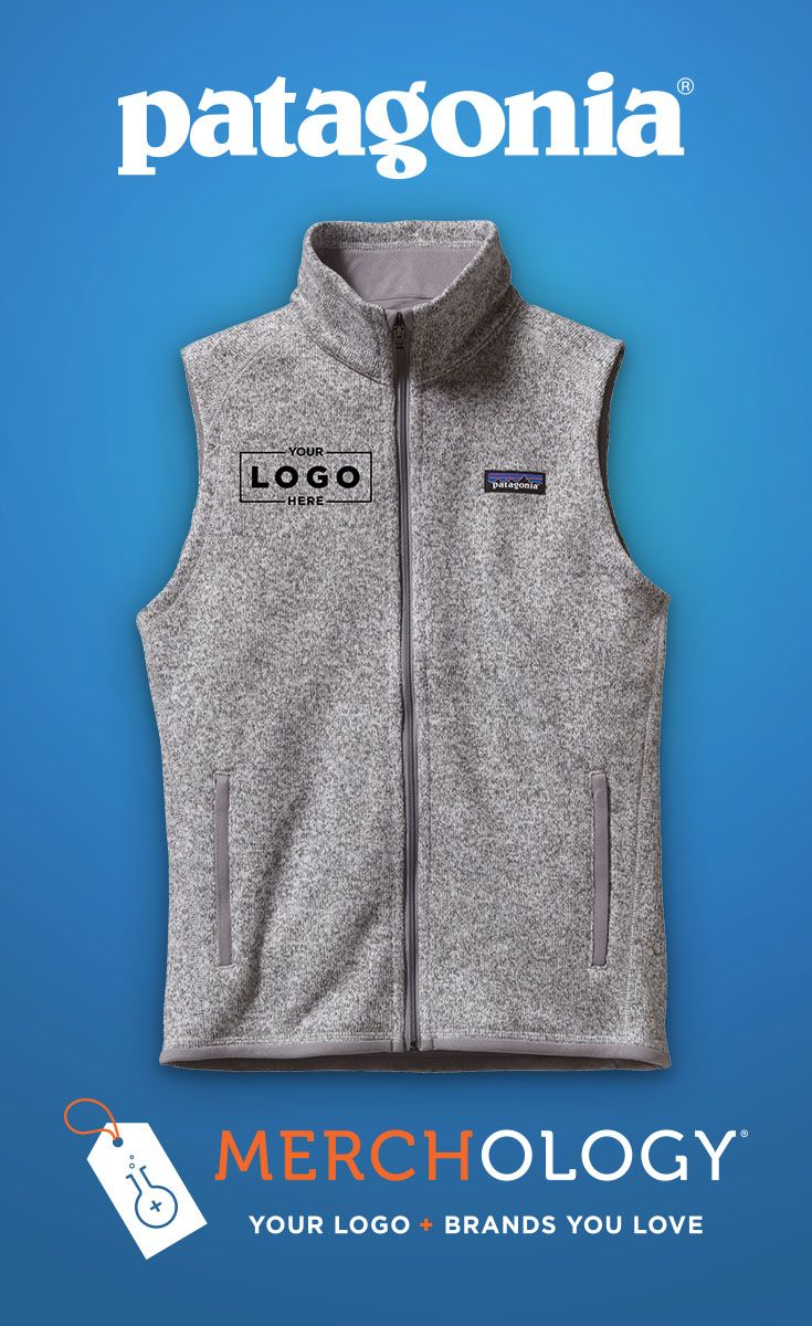 Add your logo to vests, jackets, and more from brands you