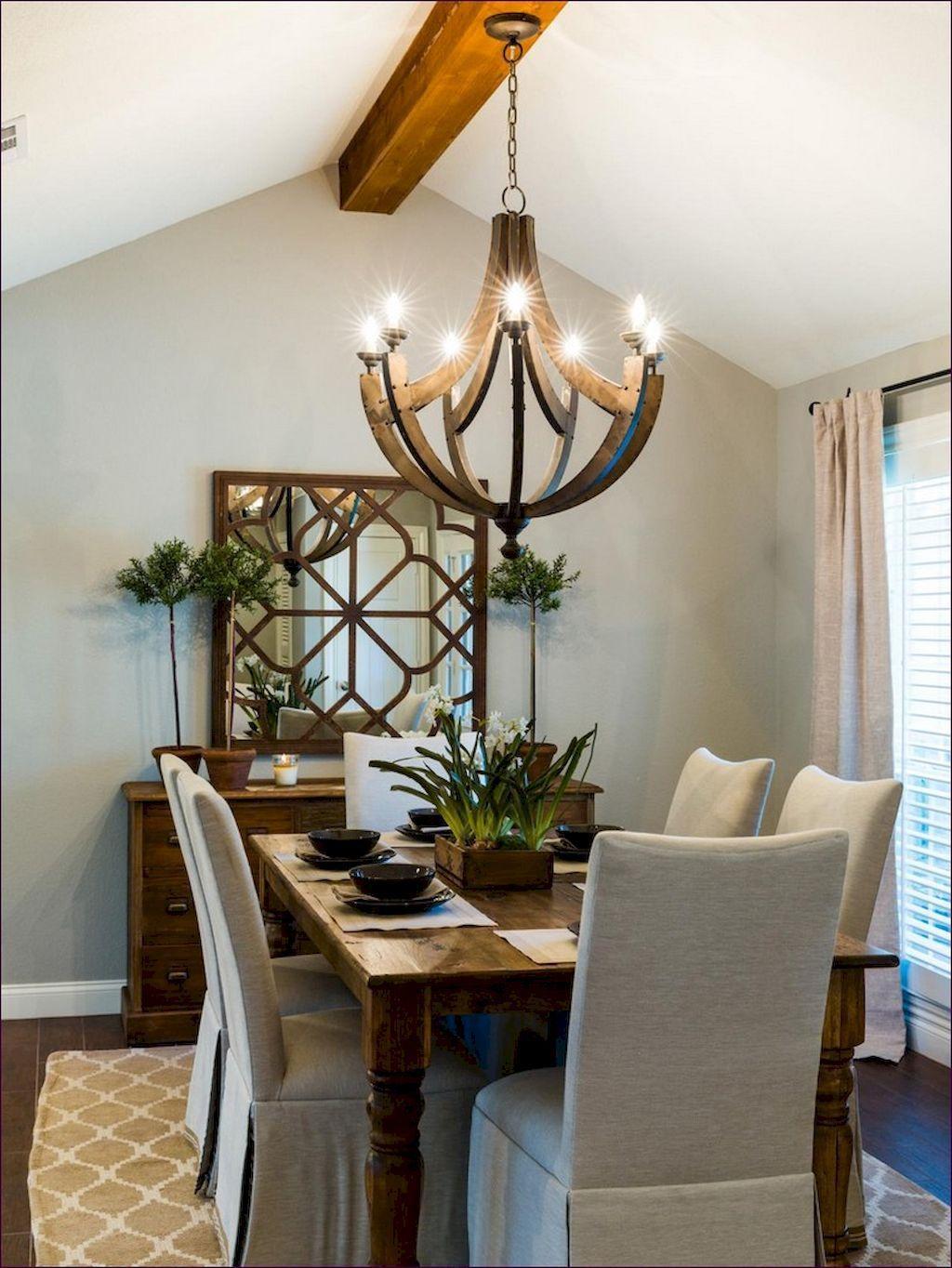 58 Awesome Modern Farmhouse Dining Room Design Ideas