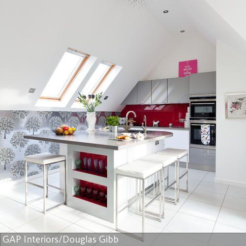 Küche unter der Dachschräge Pinterest House - küche in dachschräge
