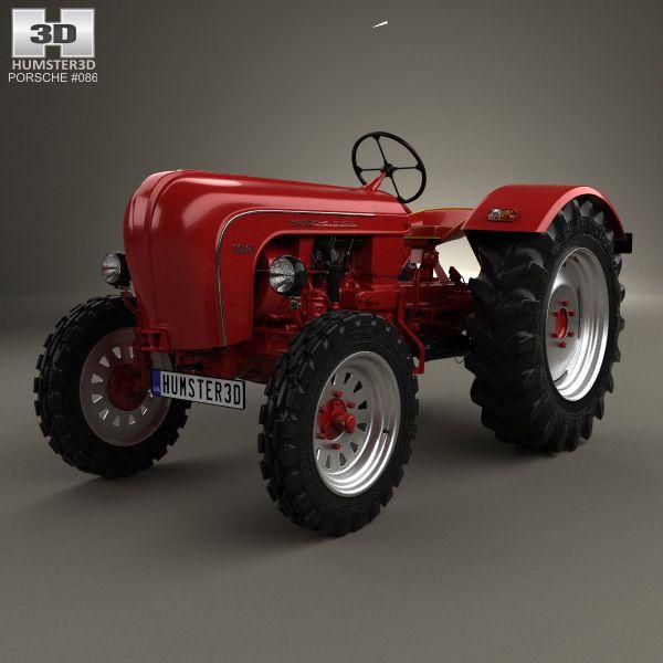 porsche diesel tractor p 133 1956 3d model from humster3d. Black Bedroom Furniture Sets. Home Design Ideas