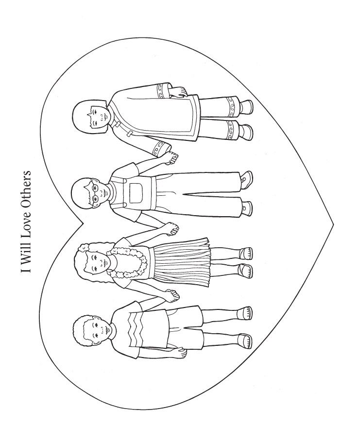ldsclipartloveoneanother COLORING PAGES LOVE ONE ANOTHER