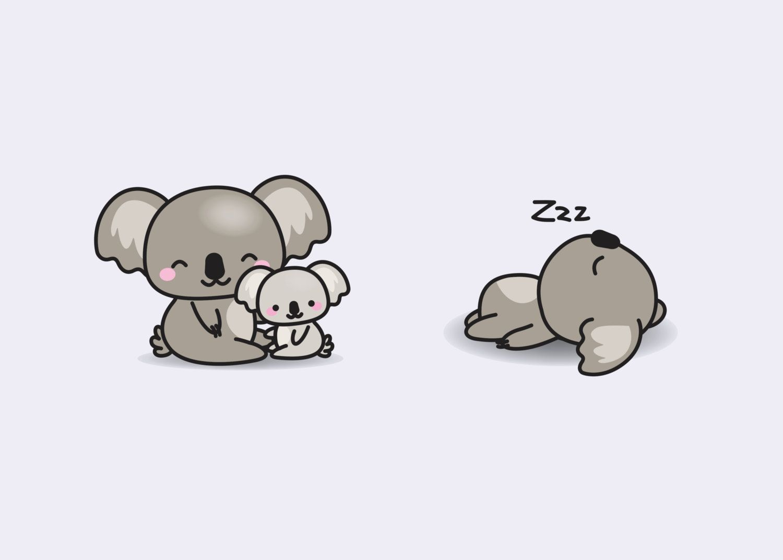 Premium Vector Clipart Kawaii Koala Cute Koalas Clipart Set