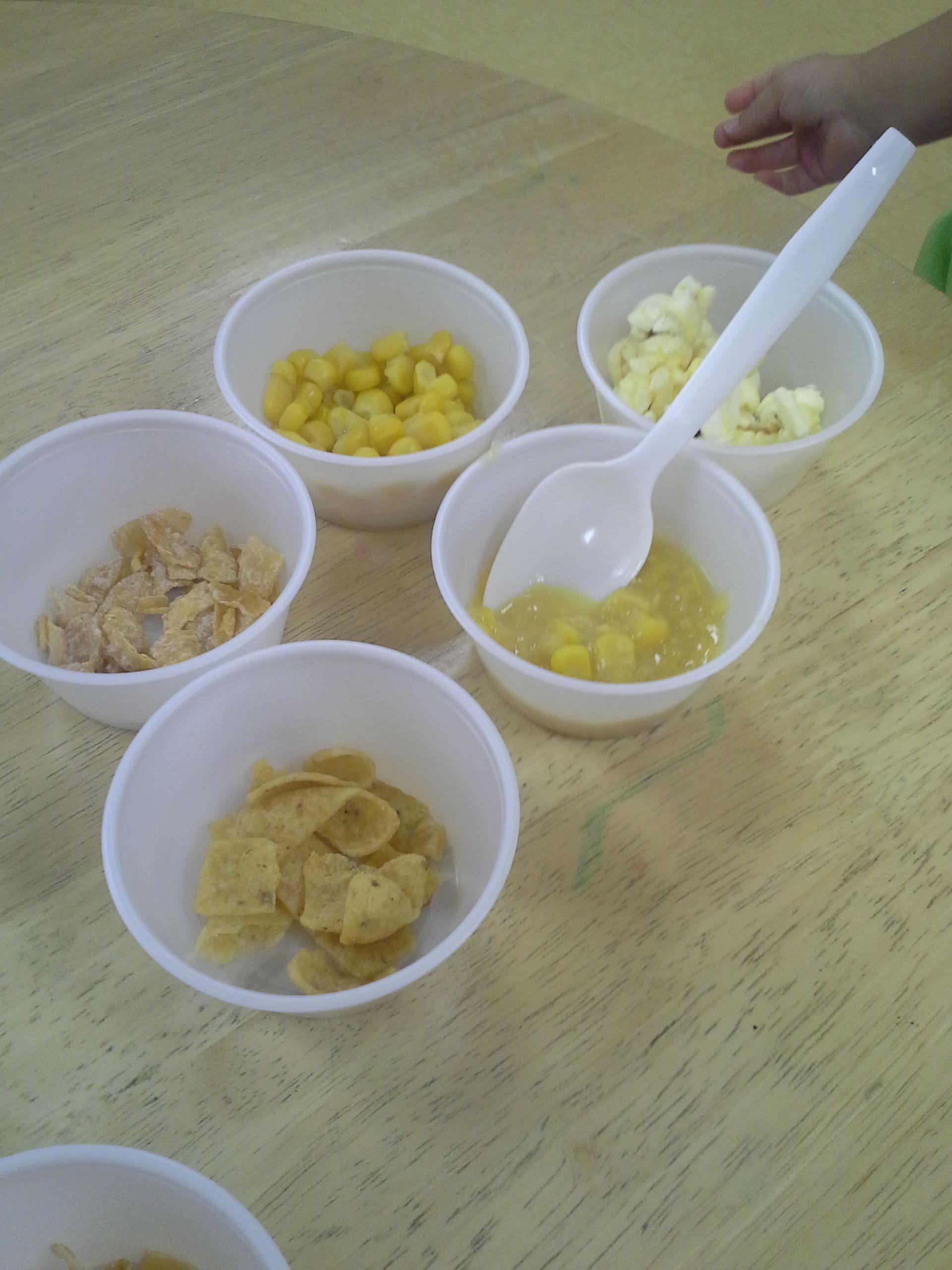 Preschool Fall Harvest Unit Food Tasting Corn Products