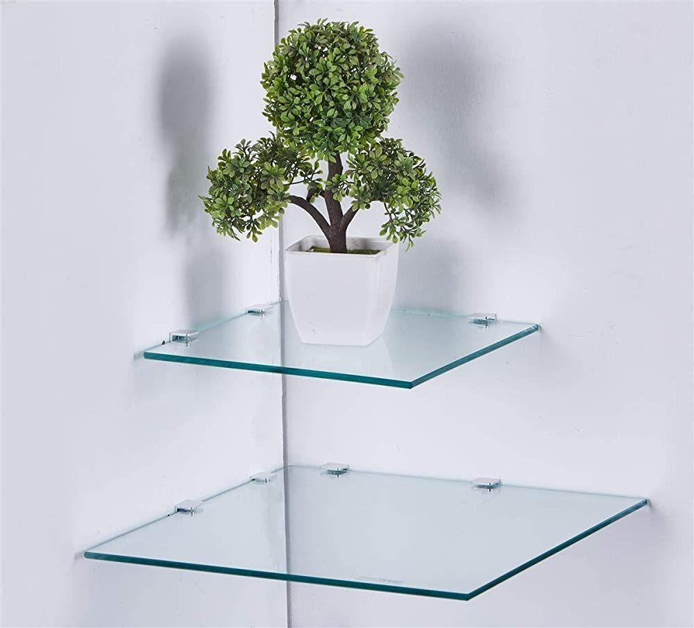 Eckregal Glasregal Glasplatte Quadratisch In 3 Grossen 25 I 35 Cm