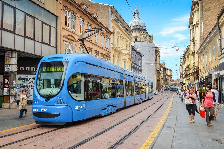 Tmk 2200 Tram In Zagreb Croatia Zagreb Zagreb Croatia Croatia