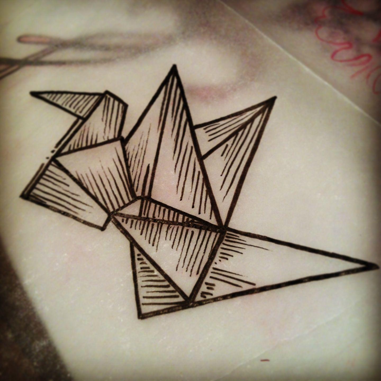 #origami #crane #tattoo   markofasoul*   Pinterest - photo#21