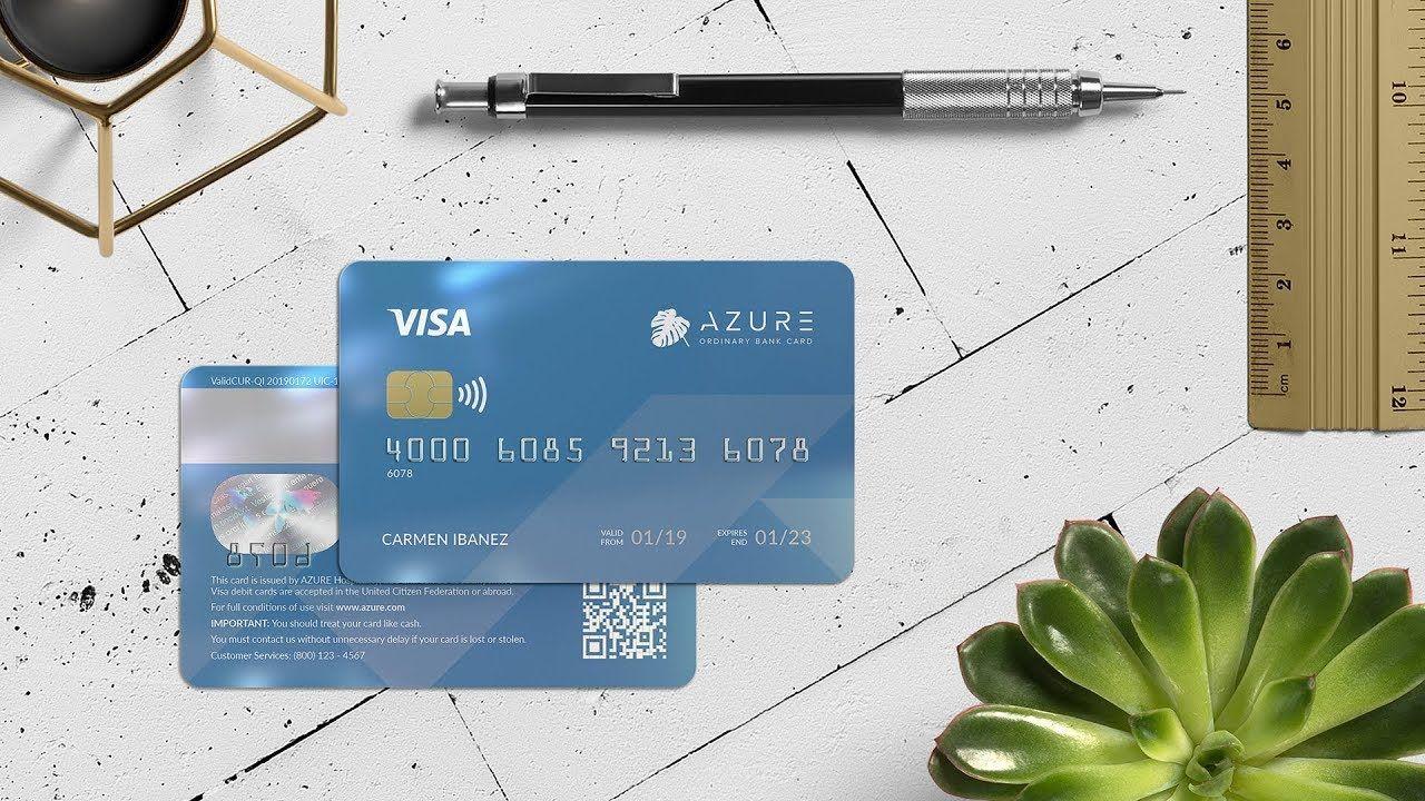 Azure bank card custom tutorial indesign ai bank