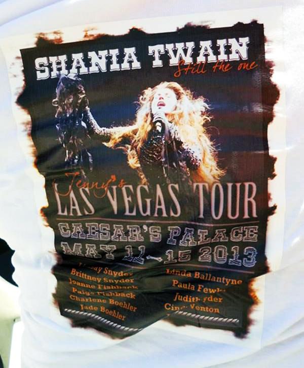 50th Birthday Party DIY T Shirts Custom Shania Twain Vegas Tour Graphic This
